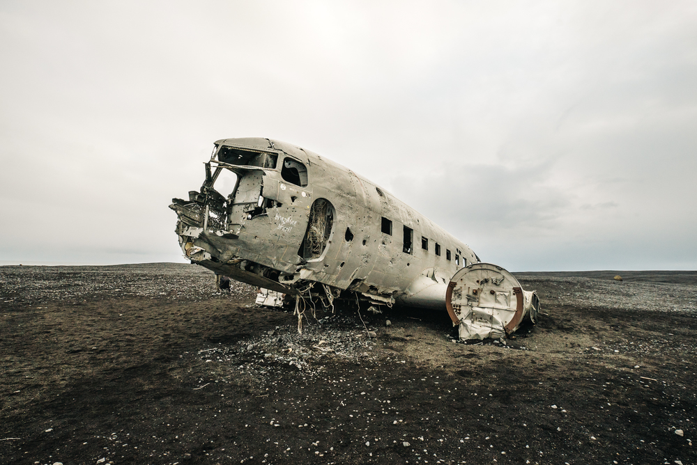 The famous abandoned plane in Iceland on Solheimasandur Beach