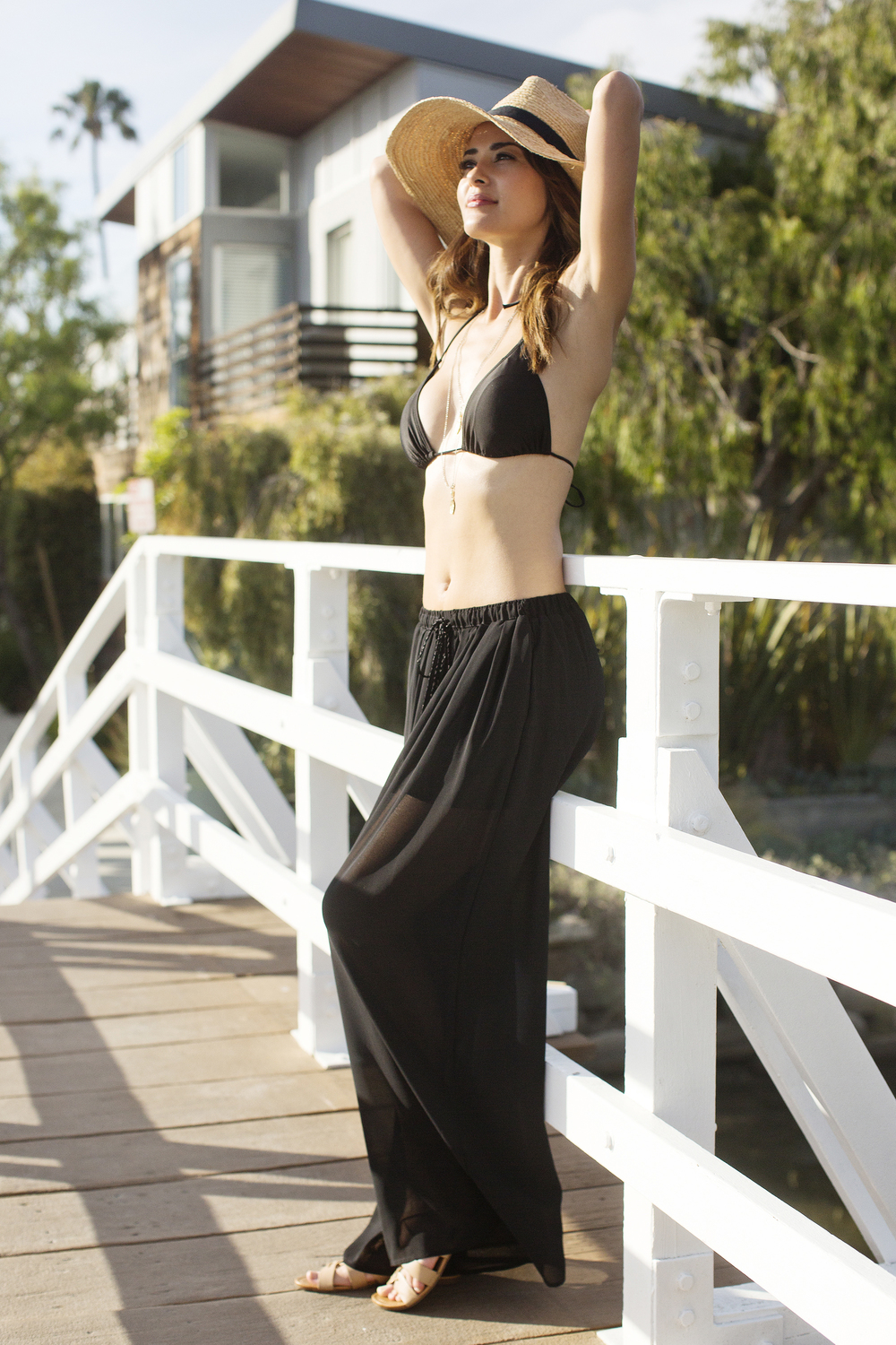 CALIFORNIA MOONRISE SHEER DRAWSTRING PANTS