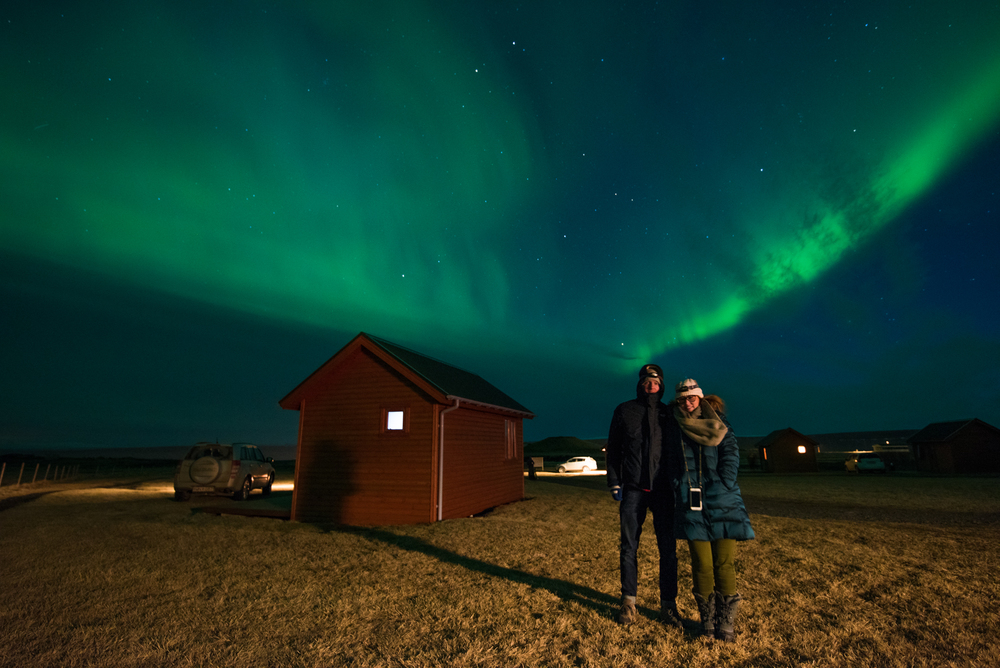 Second night seeing the Northern Lights in Iceland