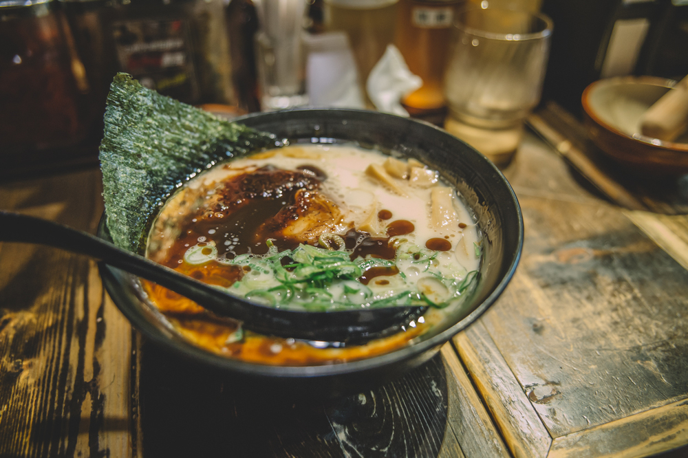 Delicious ramen at Darumanome