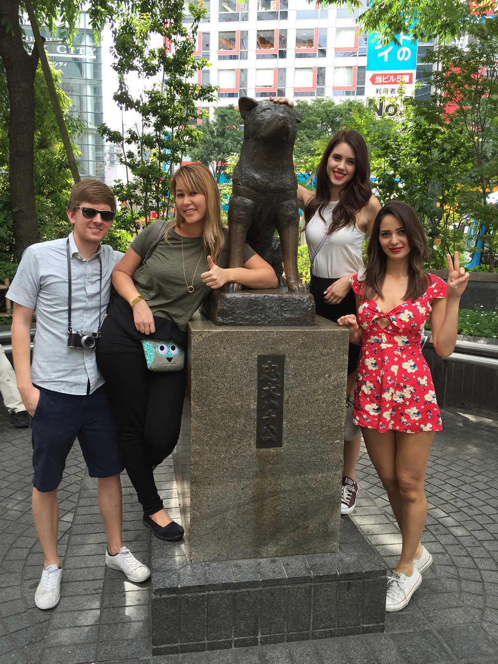 The famous Hachiko meeting spot in Shibuya