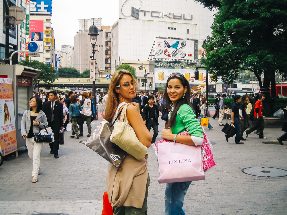 Lots of shopping in Shibuya