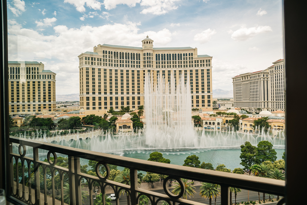 Awesome view of the Bellagio fountain show