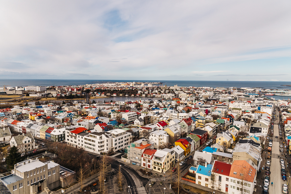 The colorful town of Reykjavik