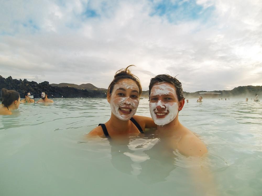 Face masks at the Blue Lagoon