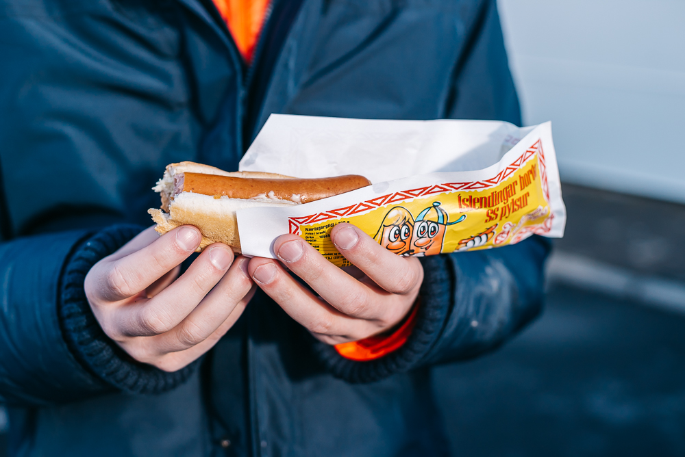 Delicious hot dogs in Iceland