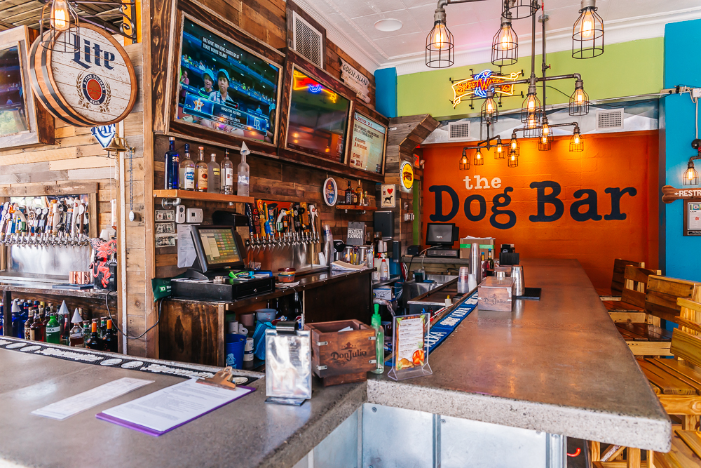 Colorful bar with great happy hour deals