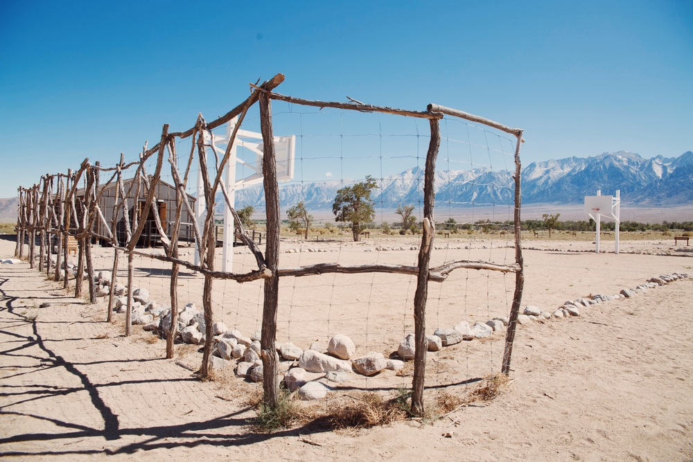 The landscape is beautiful at Manzanar. However, the hot summers, cold winters and dust storms made living conditions very harsh.