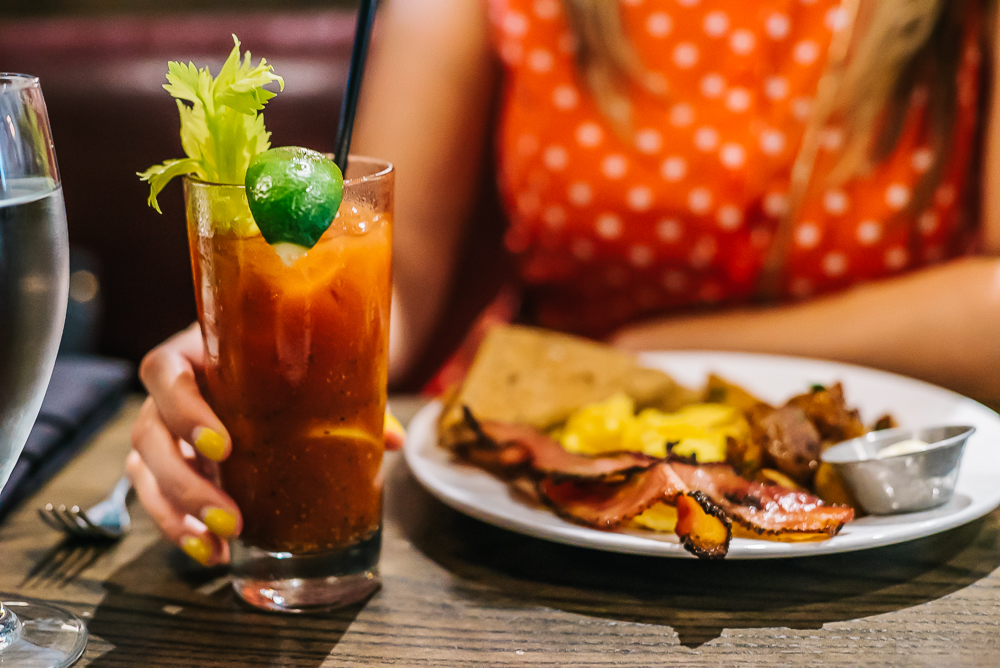Bloody Mary with a traditional breakfast
