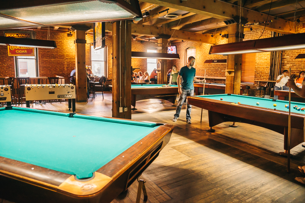 Pool hall on the third floor of Wynkoop