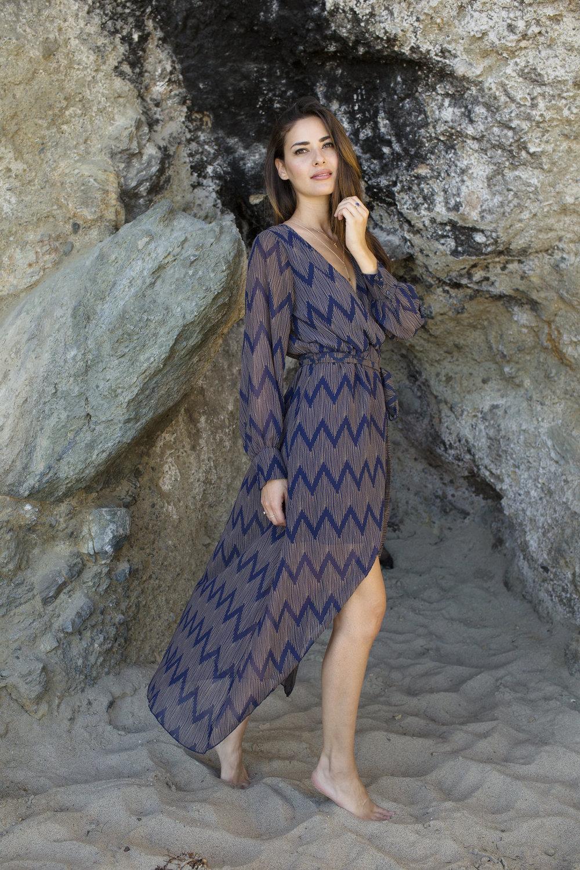 MAXI DRESS WRAP : CALIFORNIA MOONRISE