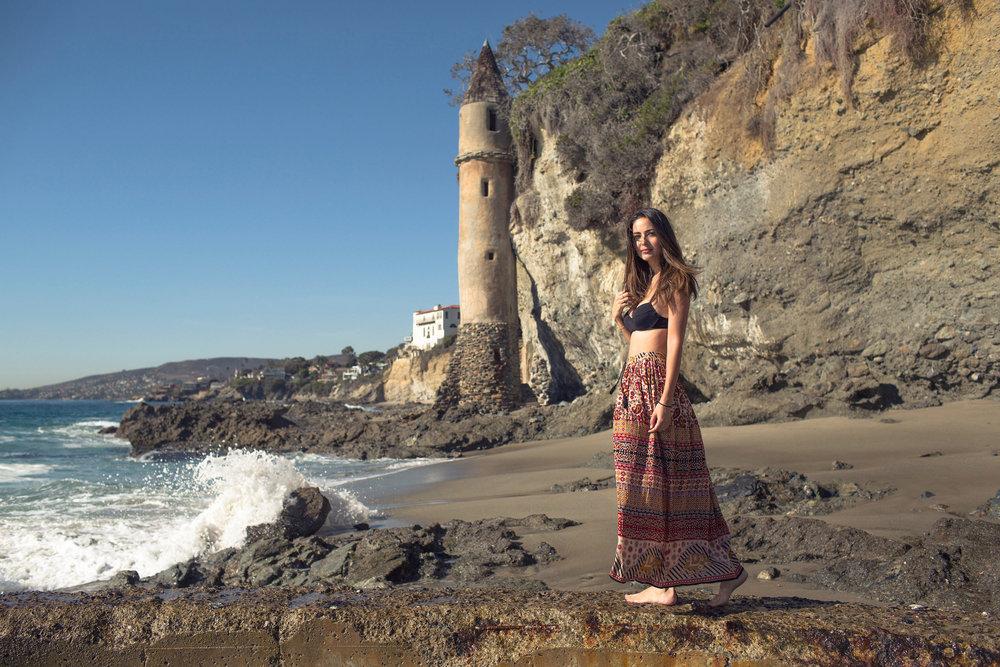MAXI SKIRT :   CALIFORNIA MOONRISE