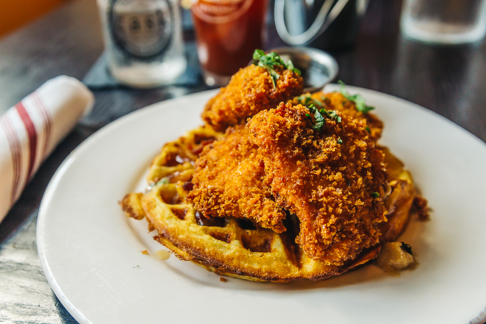 DELICIOUS CHICKEN & WAFFLES AT CASK SOCIAL KITCHEN