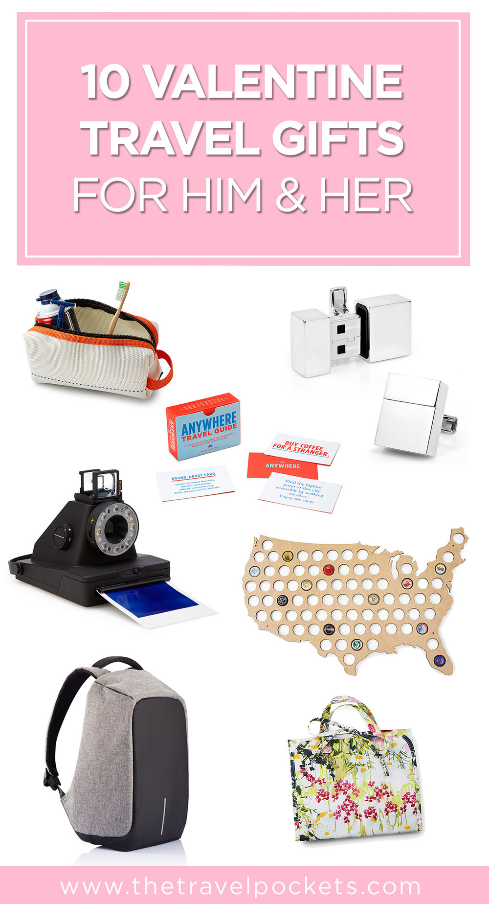 Pinterest Valentine Gifts + www.thetravelpockets.com