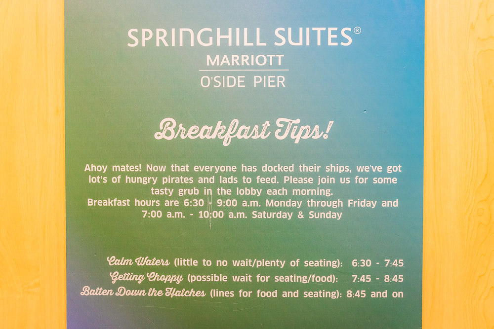 LOVE THE BREAKFAST TIP HOURS THAT WERE POSTED IN THE ELEVATORS