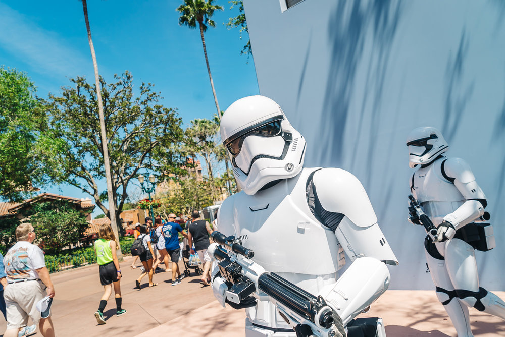 Storm Troopers patrolling Hollywood Studios