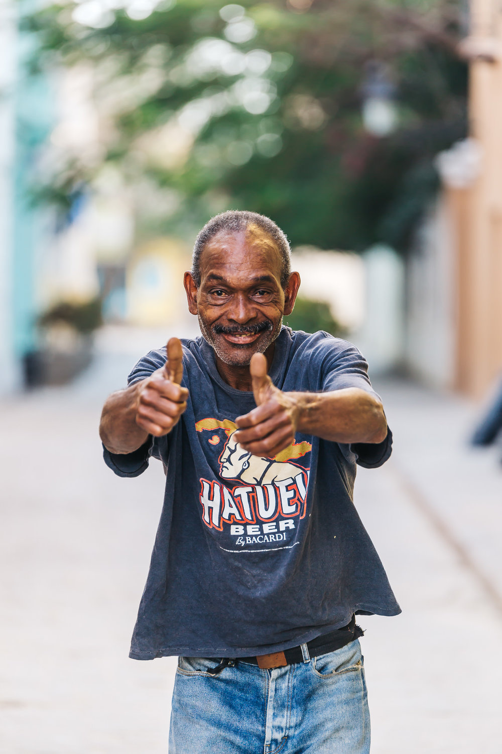 Cubans love to pose for photos - this man just turned 61