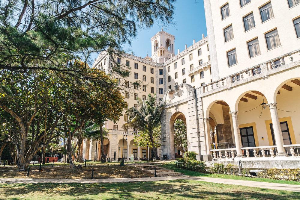 Beautiful grounds of Hotel Nacional de Cuba