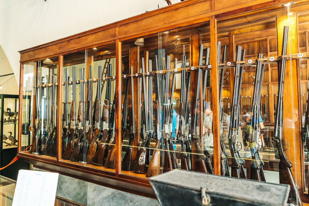 historical guns including the M2 carbine used by Ernesto Che Guevara
