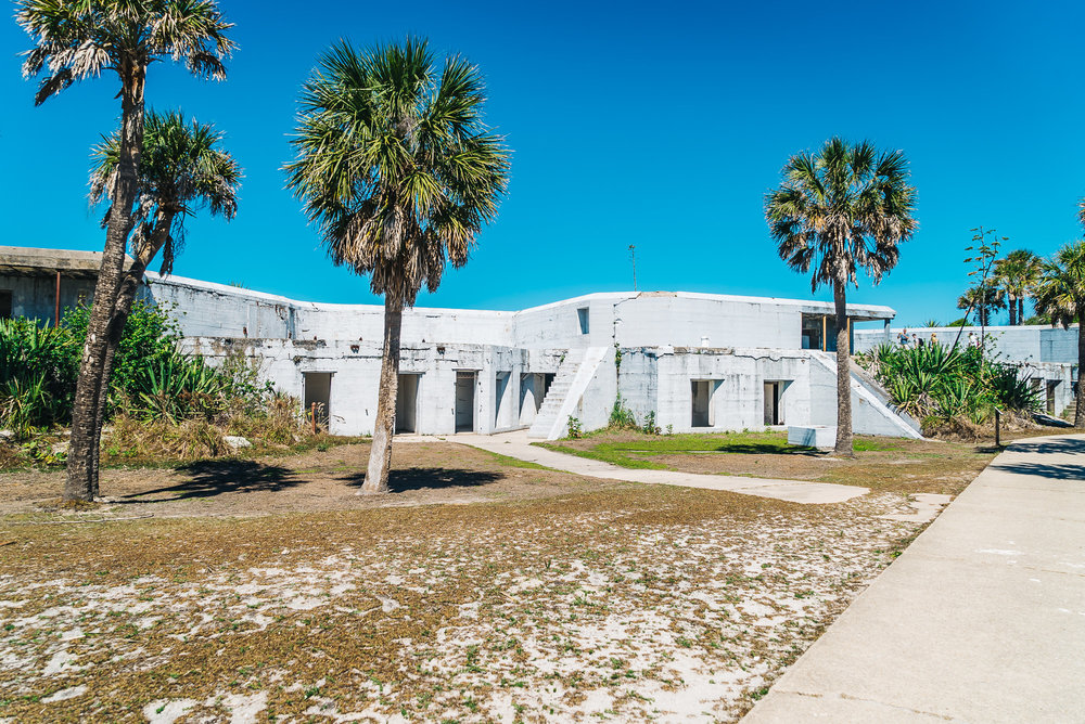 Battery McIntosh - One of five gun batteries on Fort Dade