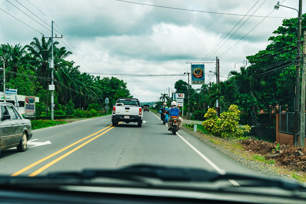 Tons of motorcycles driving around in Costa Rica - watch out for them