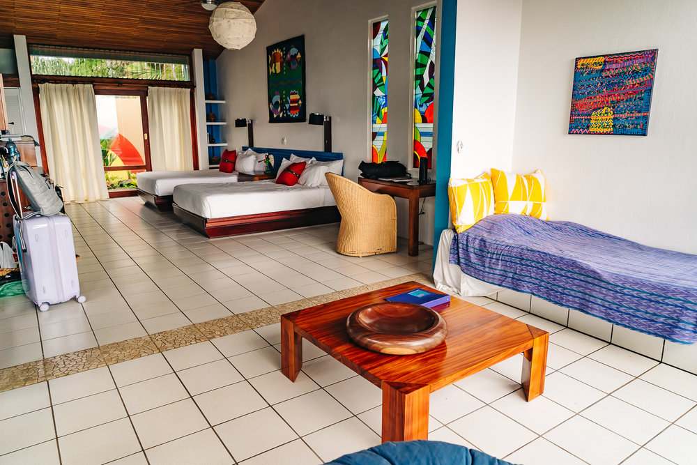 Spacious rooms at   Xandari Resort and Spa   that can accommodate up to 5 people