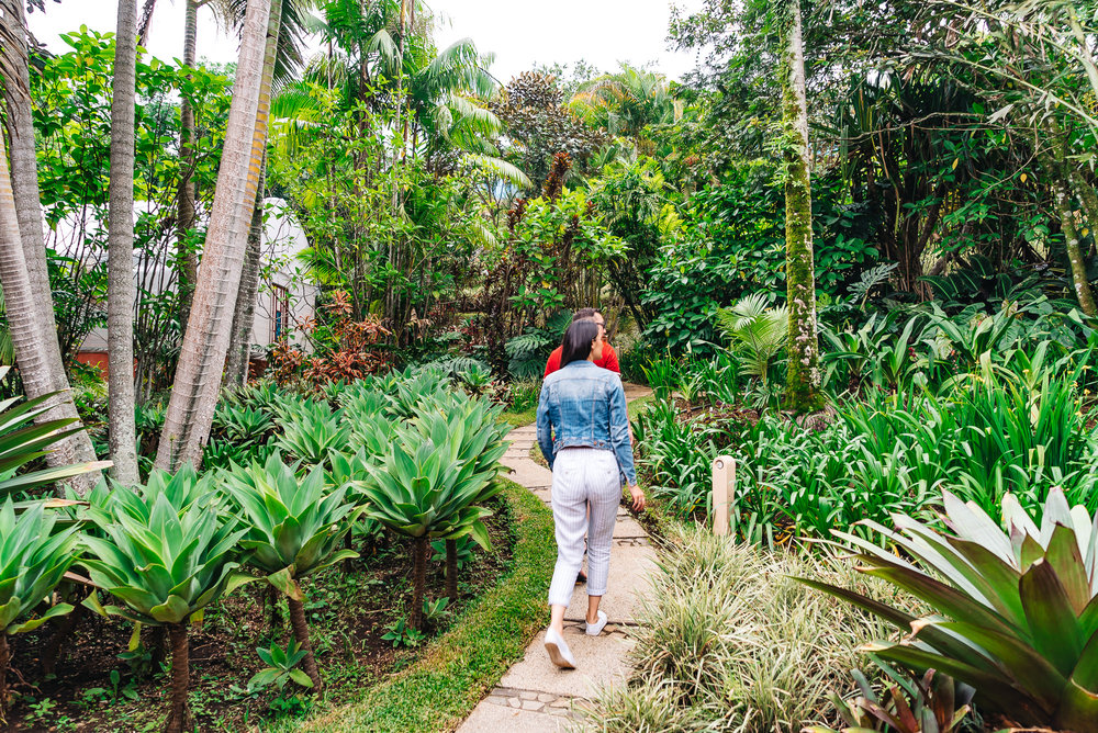 Lots of walking trails on the grounds of Our villa was surrounded by luscious greenery at Xandari Resort and Spa