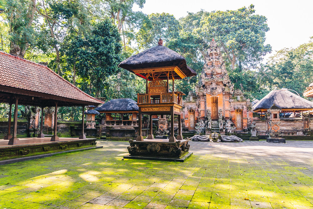 Pura Dalem Agung Padangtegal located inside the Sacred Monkey Forest