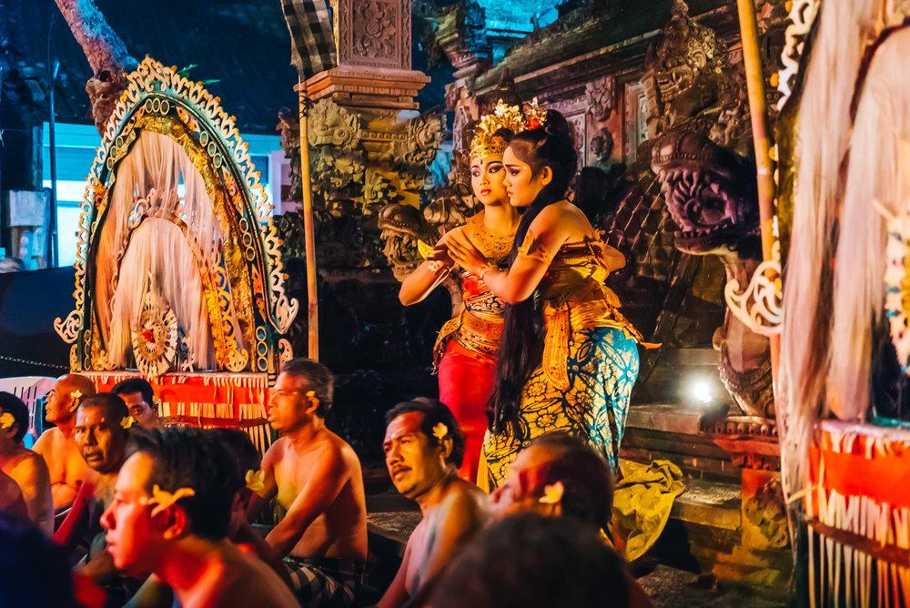 Kecak Fire Dance in Ubud, Bali