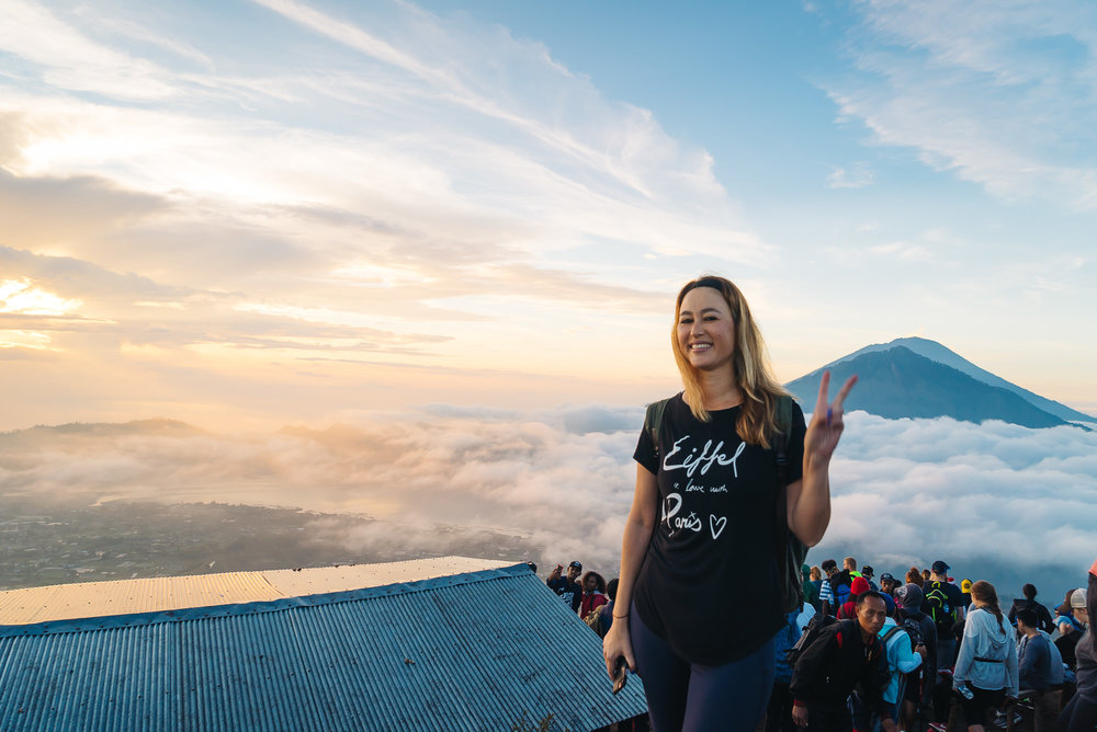 So happy I was able to catch the sunrise on top of Mount Batur