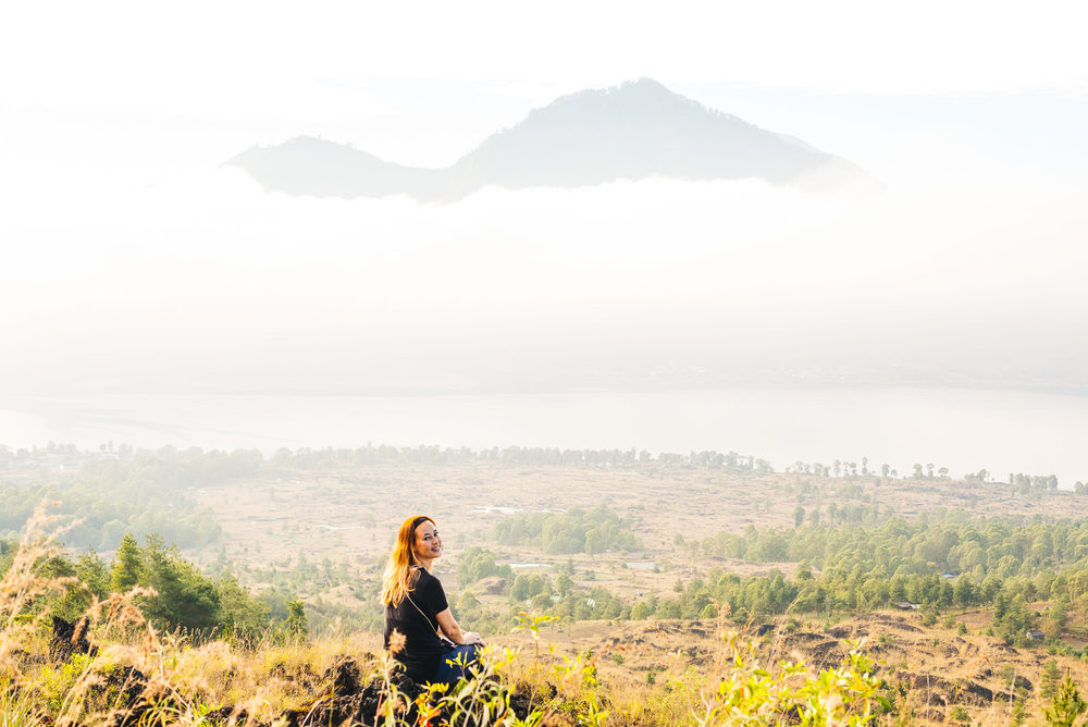 Taking in the beautiful scenery around Mount Batur
