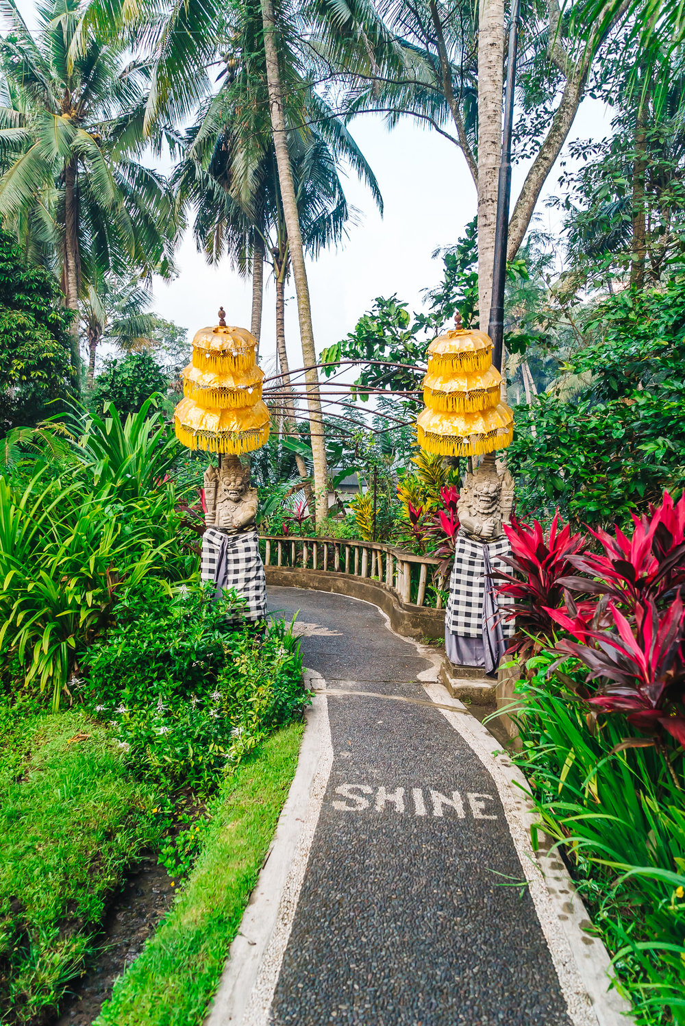 Uplifting words engraved on the pathway to Soulshine Bali