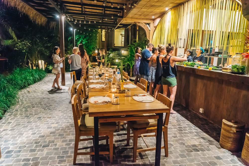 Balinese Welcome Dinner at Soulshine Bali