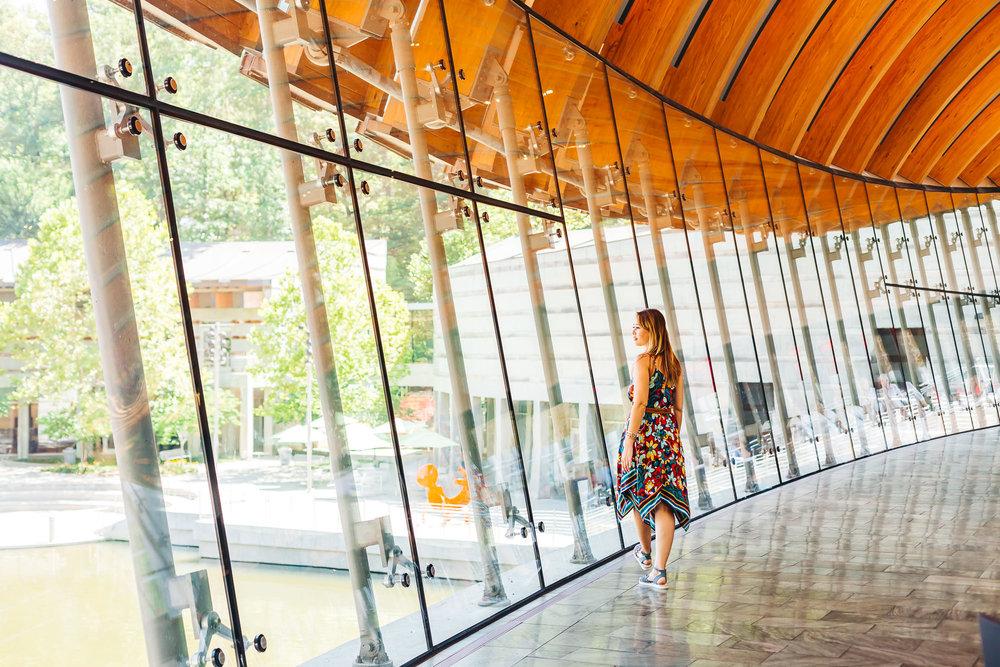 Crystal Bridges Museum designed by Moshe Safdie