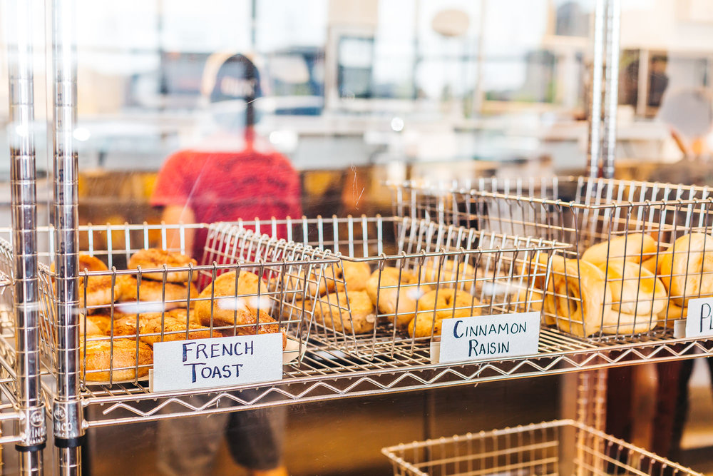 Many Bagels to choose from including Gluten Free, Honey Oat and Jalapeno