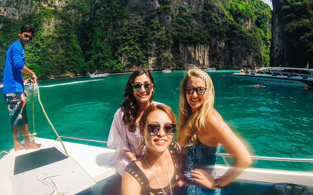 Excited to be at our first stop of Phi Phi Islands