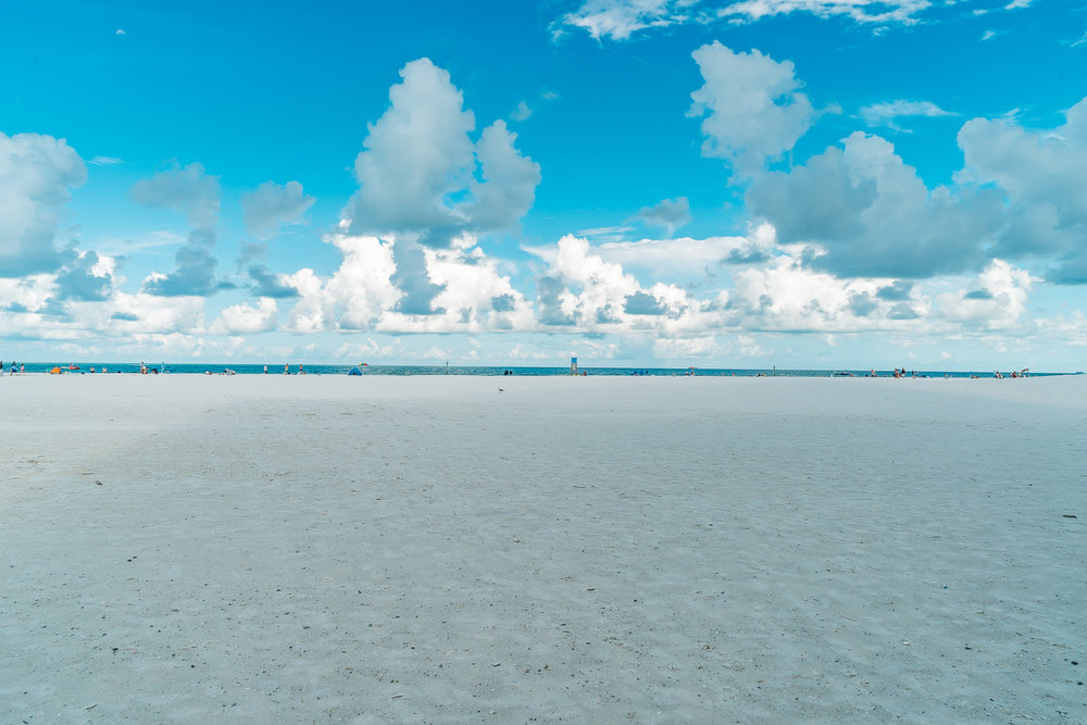 Start your day early at Clearwater Beach to enjoy the calmness in perfect weather