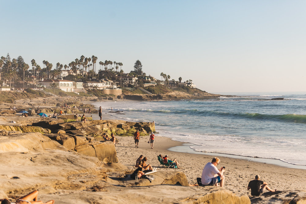 WINDANSEA BEACH IN LA JOLLA, CALIFORNIA