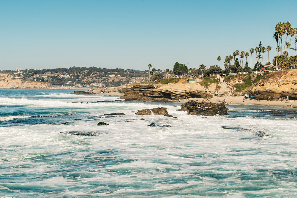 SHELL BEACH IN LA JOLLA, CALIFORNIA