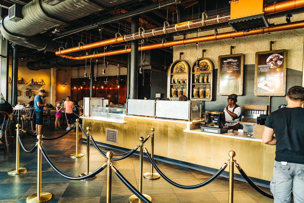 Milkshake bar and care at the Chocolate Emporium