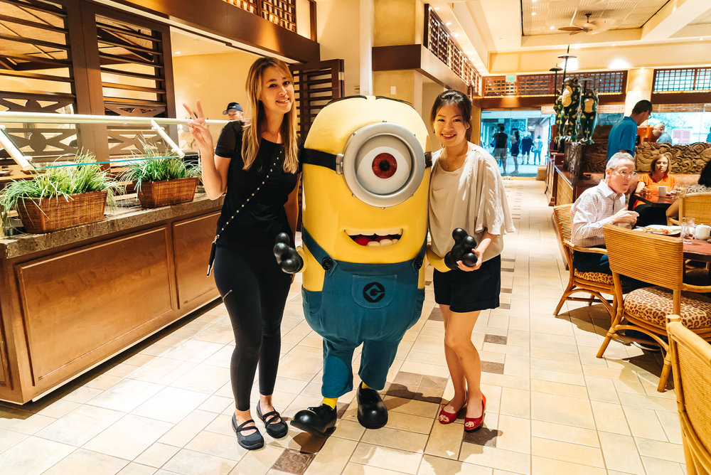 Mariko's favorite minion at Islands Dining Room character breakfast