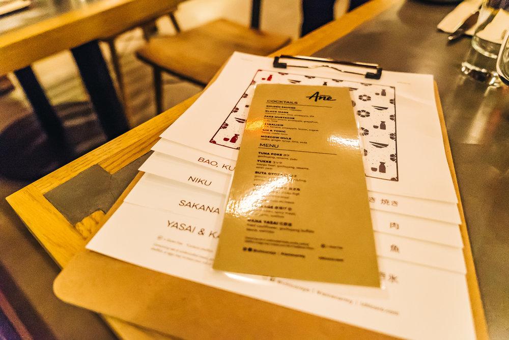 Ichicoro Ane menu