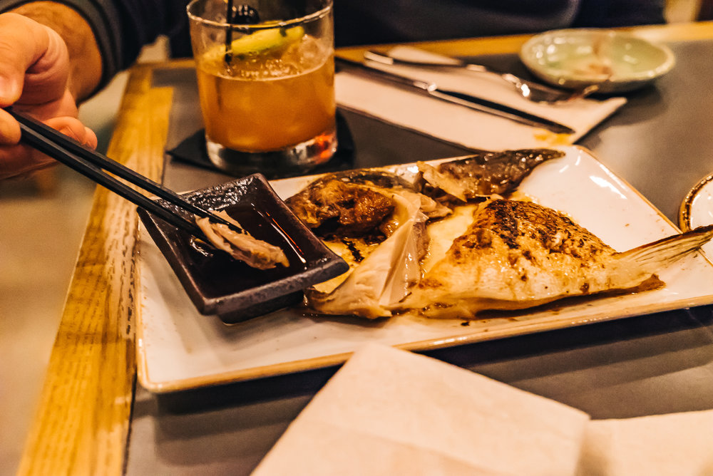 Hamachi Kama - broiled yellowtail collar