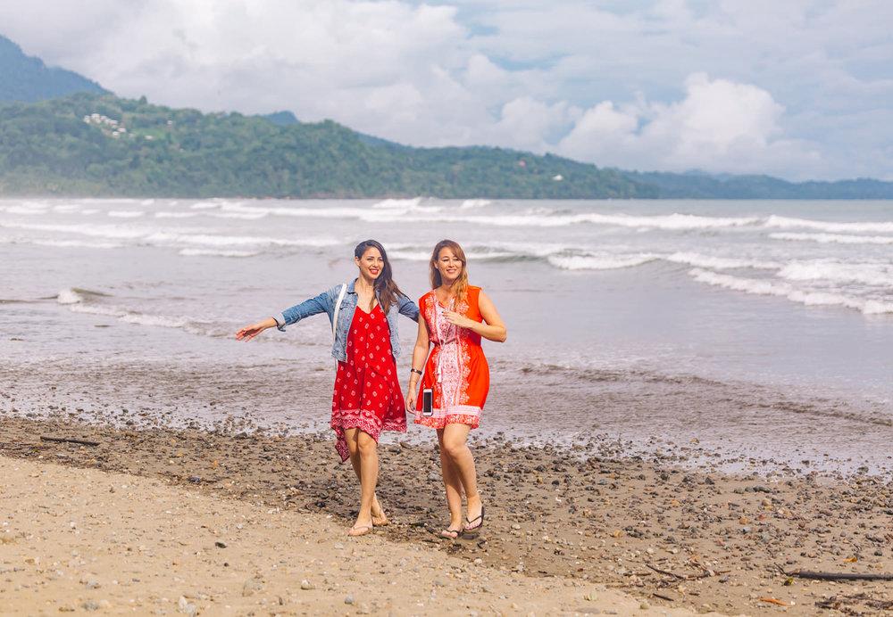 Uvita Beach wearing California MoonRise