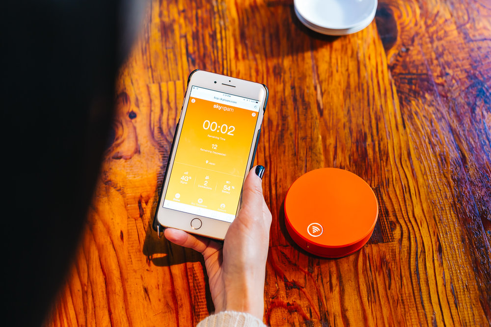 Access information on the Skyroam Solis on the Skyroam website