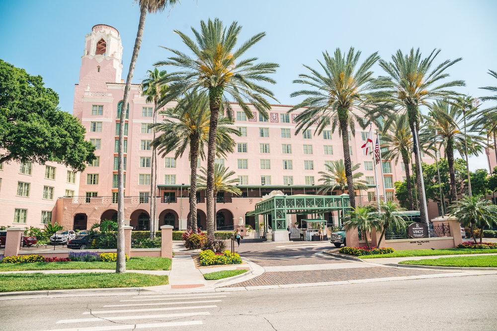 The historic Vinoy Hotel at Vinoy Park