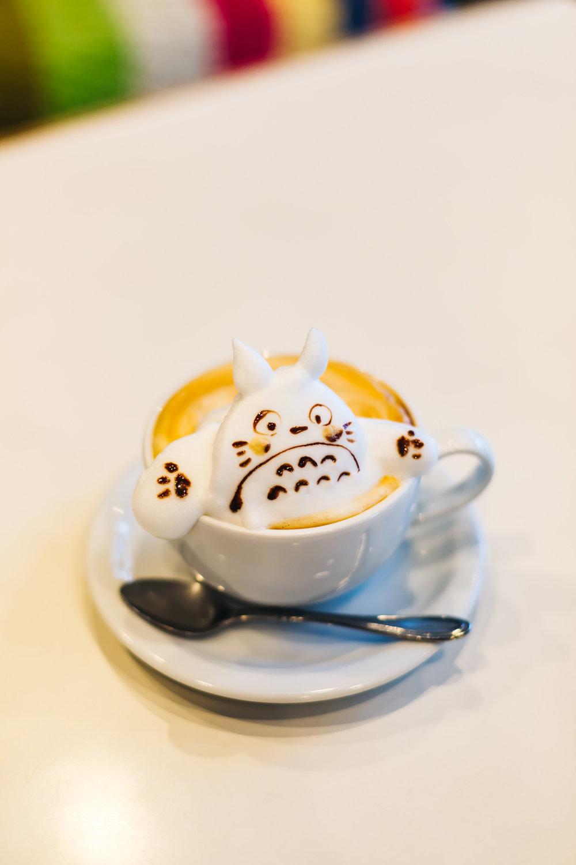 Totoro 3D coffee art