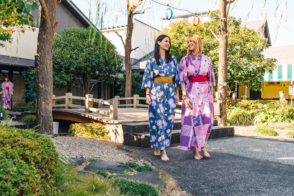 We really enjoyed wearing these cute yukatas
