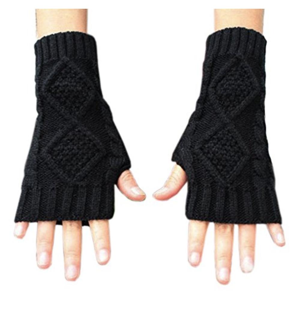Winter Warm Fingerless Arm Warmers Gloves