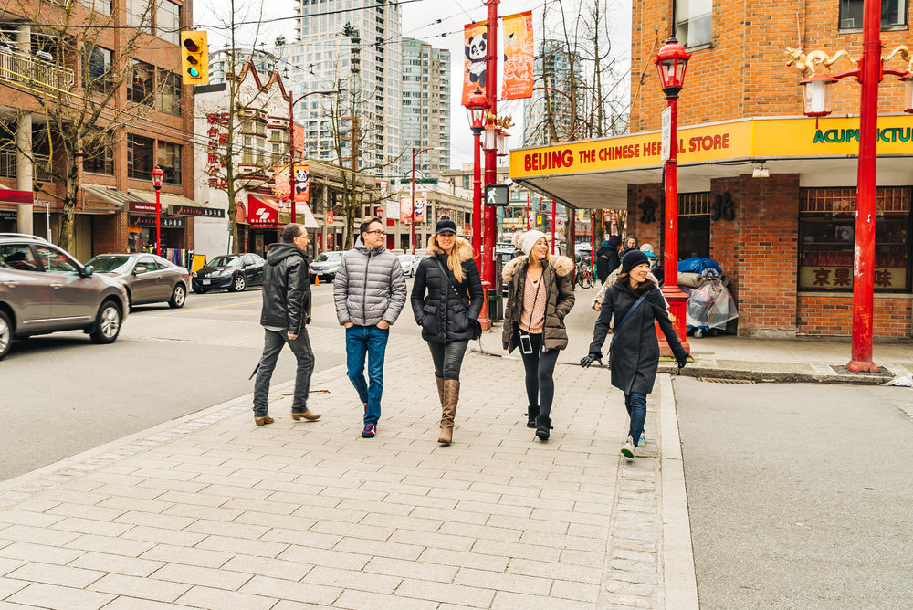Walking the streets of Chinatown in Vancouver